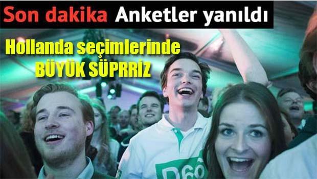 Hollanda seçimlerinde büyük sürpriz!