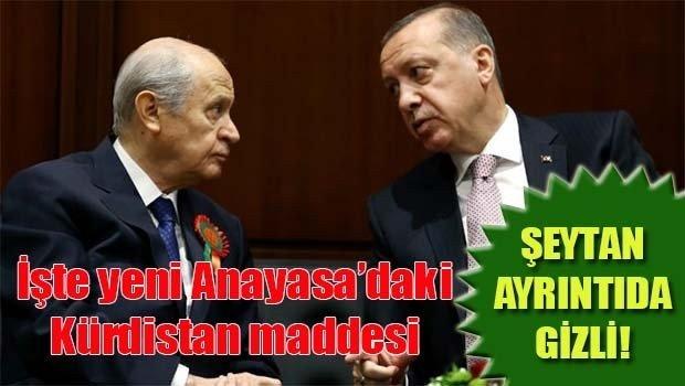 İşte yeni Anayasadaki Kürdistan maddesi!