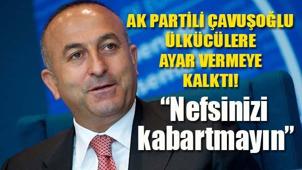 AK Partili Mevlüt Çavuşoğlu ülkücülere ayar vermeye kalktı!