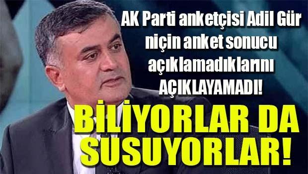 AK Parti anketçileri biliyorlar da susuyorlar!