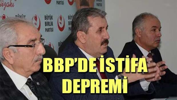 BBP'de istifa depremi!
