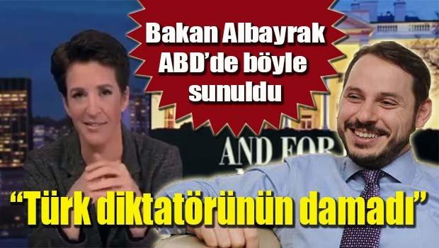 MSNBC spikeri Berat Albayrak için 'Türk diktatörün damadı' dedi