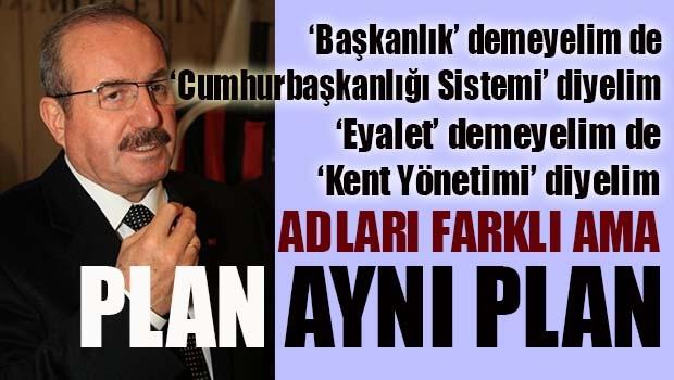 Erdoğan'ın başdanışmanından eyalet itirafı!