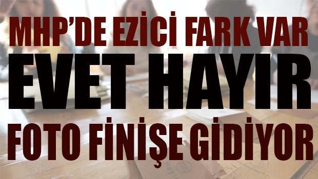 MHP seçmeni HAYIR dedi, sonuçlar fotofinişe gidiyor!