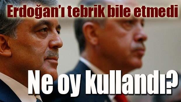 Abdullah Gül'ün oyu belli oldu!