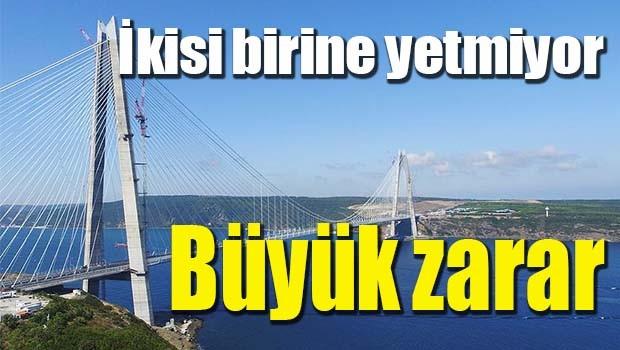 3. köprüde büyük zarar!