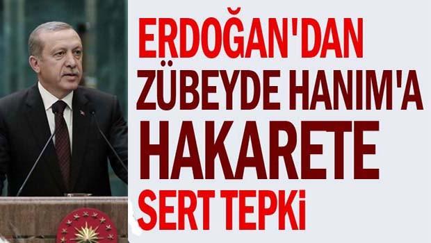 Erdoğan'dan Zübeyde Hanım'a hakarete sert tepki