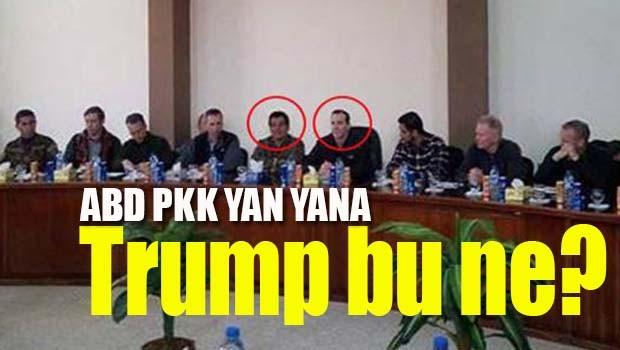 Trump PKK'ya karşıyız derken özel temsilcisi yan yana poz verdi!