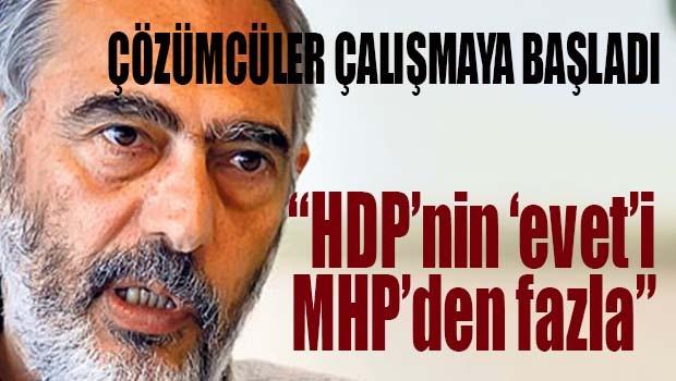 'HDP'nin EVETi MHP'den fazla'
