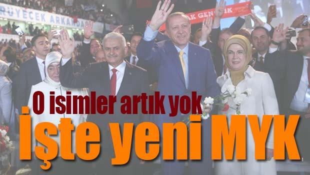 İŞTE AK PARTİ YENİ MYK'SI