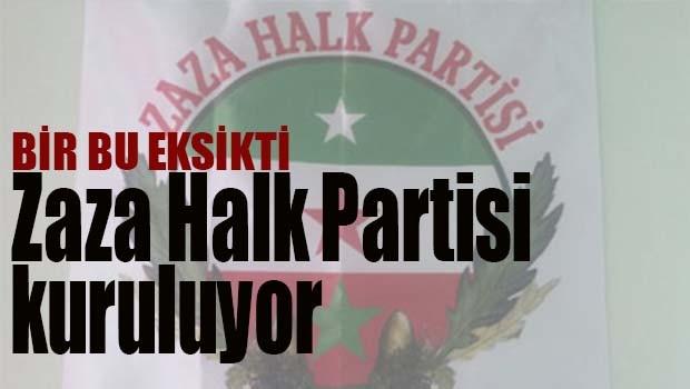 ZAZA HALK PARTİSİ KURULUYOR
