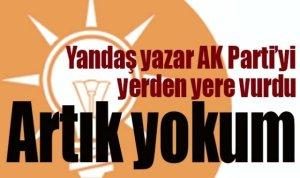 Yandaş yazar AK Parti'yi yerden yere vurdu!