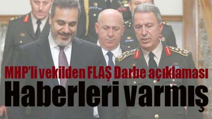 MHP'li vekilden FLAŞ DARBE açıklaması!