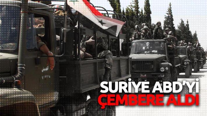 Suriye ABD'yi çembere aldı