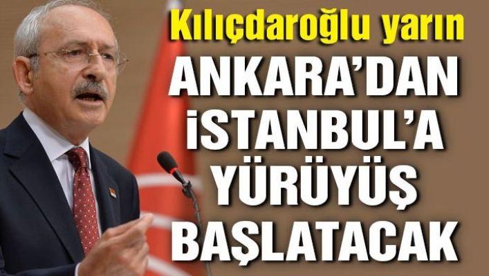 Son dakika haberi… Kılıçdaroğlu İstanbul'a yürüyecek