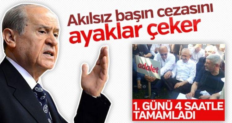 Bahçeli'den Kılıçdaroğlu'na: Yürüyüş masumane değil
