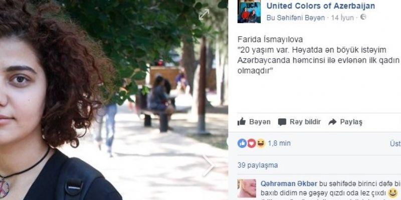 Bakü'de evlenmek için kız arayan bir lezbiyen tartışma yarattı..