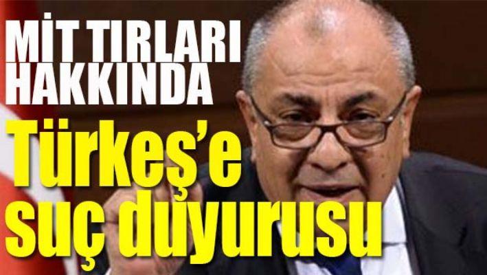 MİT tırları hakkında Tuğrul Türkeş'e suç duyurusu!