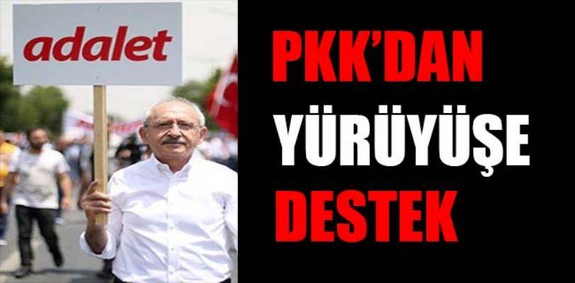 PKK yöneticisi Mustafa Karasu, Adalet yürüyüşüne destek verdi