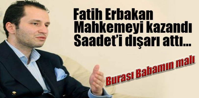 Saadet Partisine Fatih Erbakan şoku