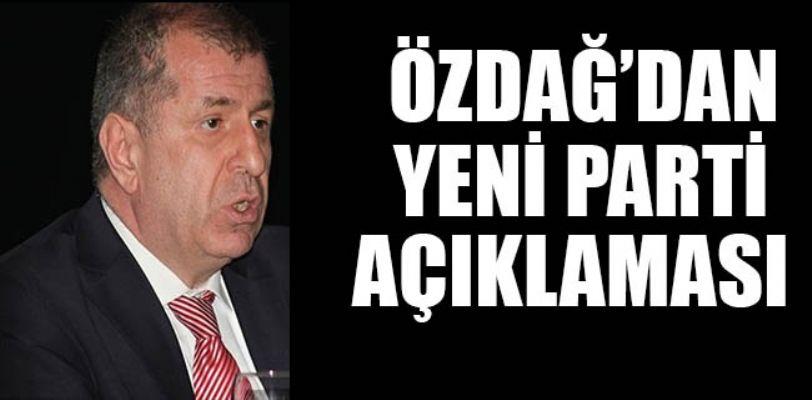 Ümit Özdağ'dan yeni parti ile ilgili açıklama