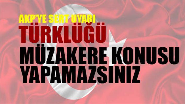 Emekli Büyükelçi Öymen: Türklüğü müzakere konusu yapamazsınız!