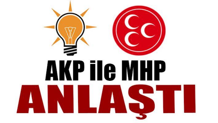 Son dakika... AK Parti ile MHP anlaştı!