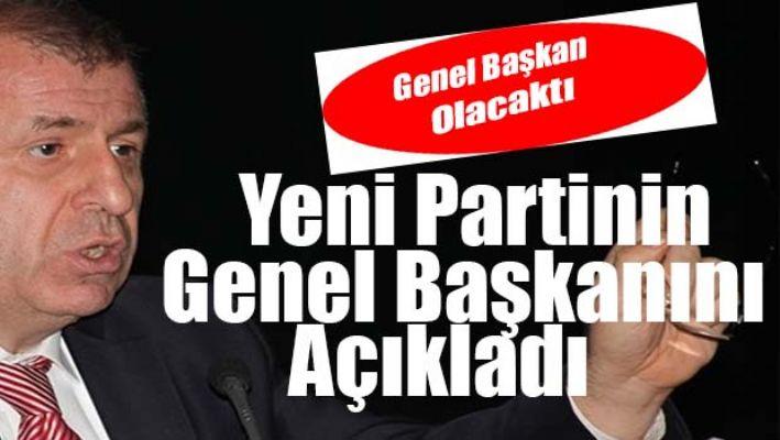 Ümit Özdağ, yeni partinin genel başkanını açıkladı