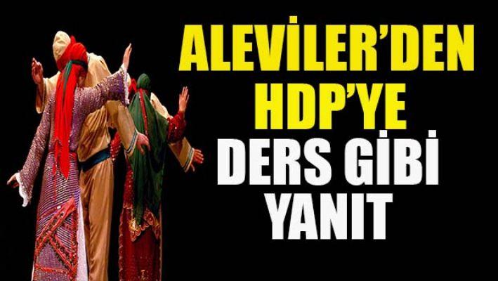 Aleviler'den HDP'ye ders gibi yanıt