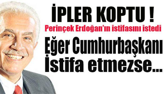 Perinçek'ten Erdoğan'a istifa çağrısı