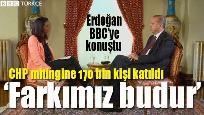 Erdoğan, 'CHP mitingine 170 bin kişi katıldı'