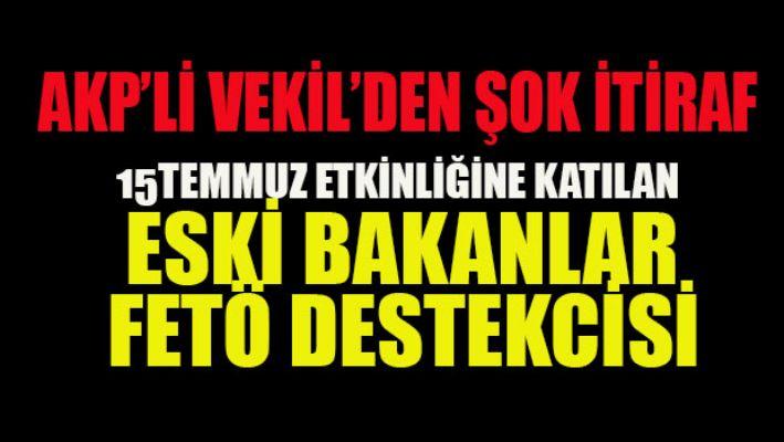 AKP'li vekilden şok itiraf