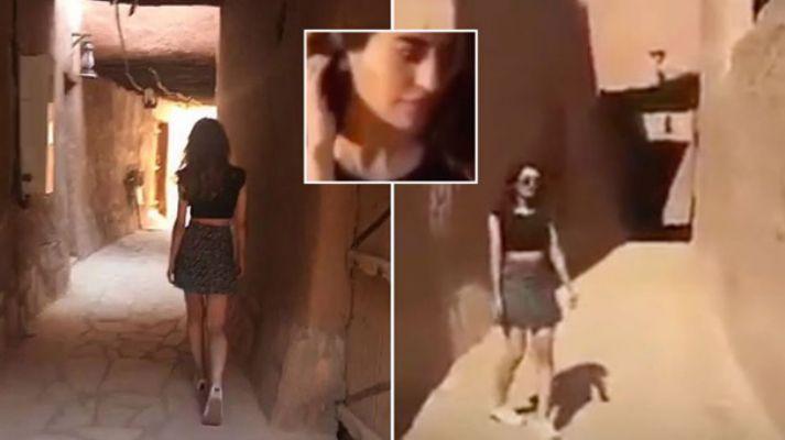 Mini etek giyen kız gözaltına alındı