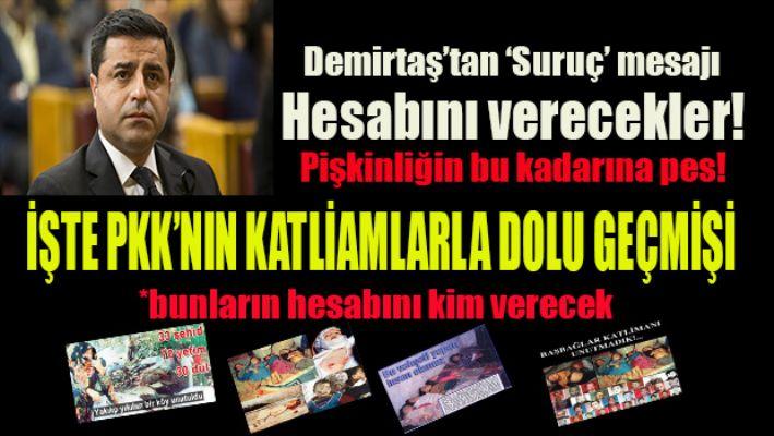 Demirtaş'tan 'Suruç' mesajı