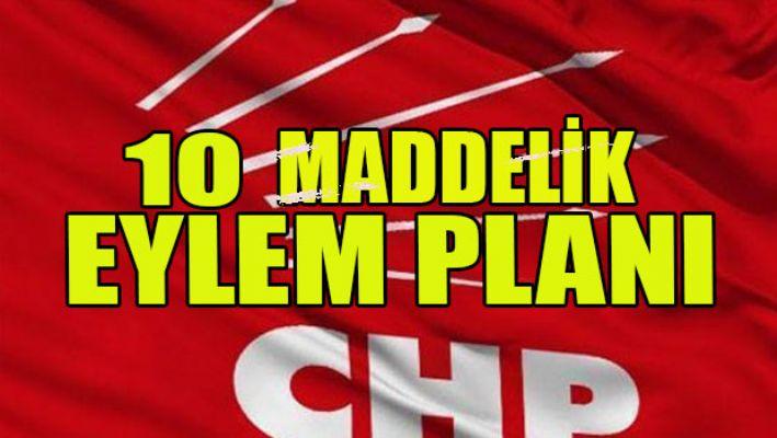 CHP'den 10 maddelik eylem planı